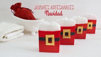 Aprende como hacer Jabones artesanales navidad con vídeos y paso a paso