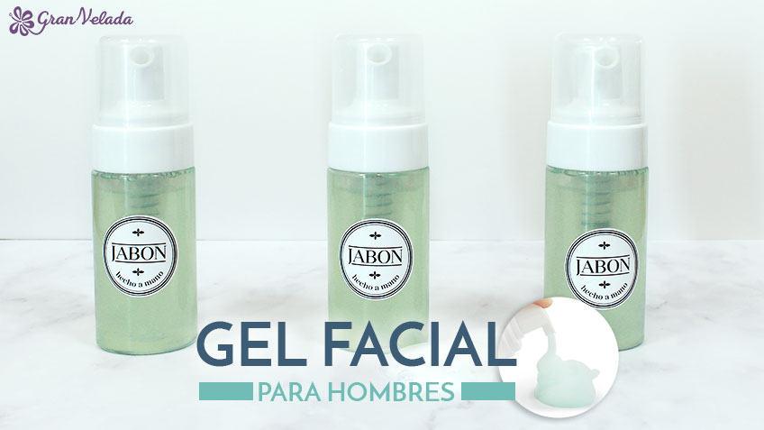 Gel facial para hombres