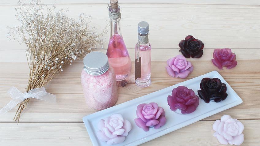 Flores de jabon