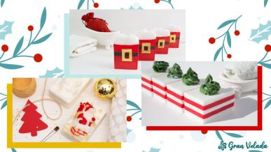 Jabones artesanales de Navidad
