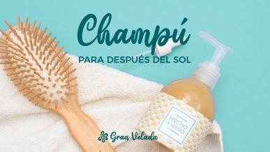 Tratamiento capilar intensivo con un Champu para despues del sol hecho en casa