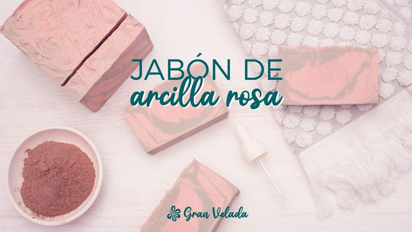 Jabon con arcilla rosa