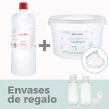 Pack 1 litro gel desinfectante manos casero