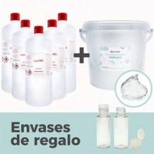 Pack 8 l gel desinfectante manos casero
