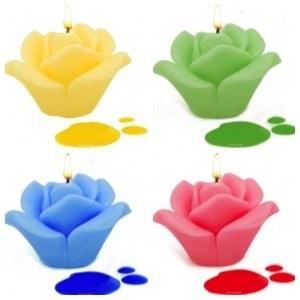 Velas caseras de Colores
