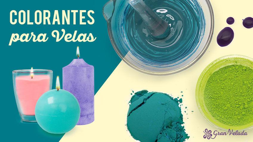Conoce los diferentes tipos de colorantes para velas