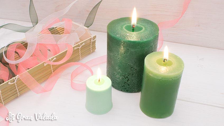 El significado del color de las velas verdes