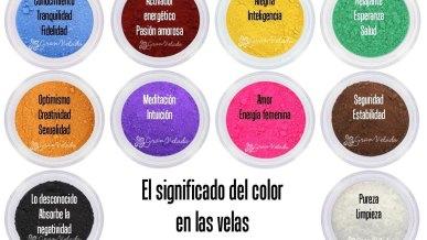 El significado del color en las velas