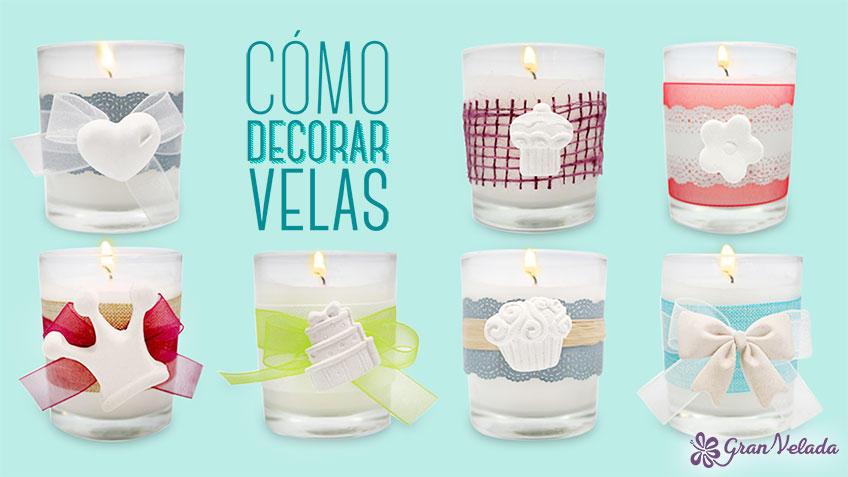 Tutorial para aprender como decorar una vela en casa
