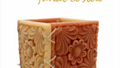 Cómo hacer un fanal cosido con aspecto rústico y un bonito grabado