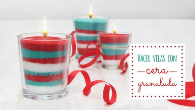 Hacer velas aromaticas granuladas