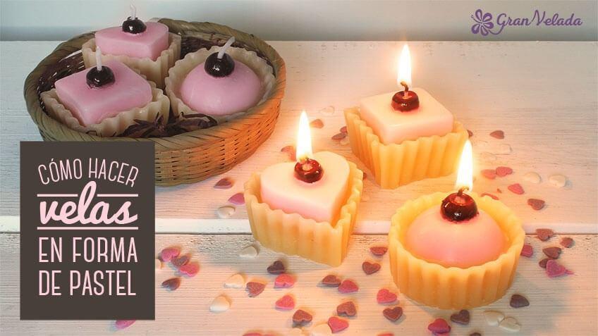 Tutorial y vídeo de velas en forma de pastel caseras con vídeo