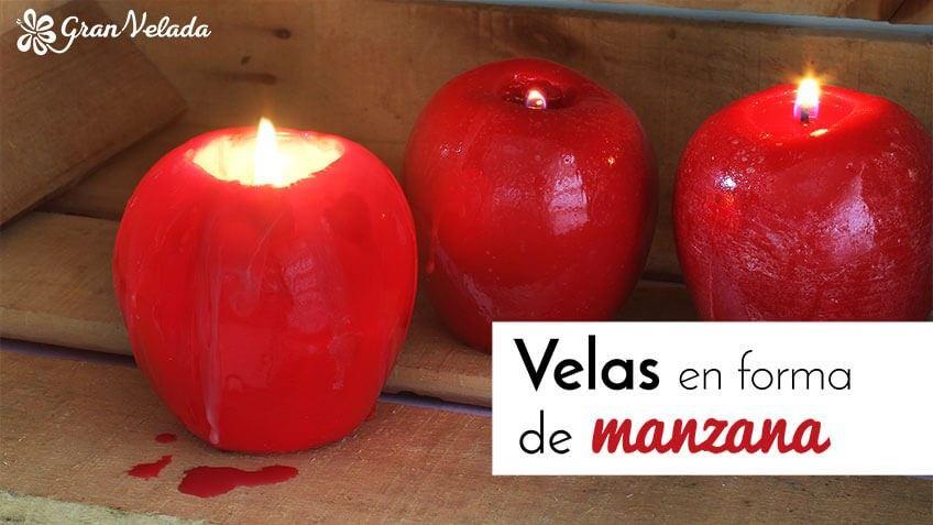 Tutorial para hacer vela de manzana roja en casa de una forma sencilla y economica