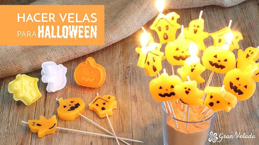 Adornos halloween de velas divertidas hechos en casa
