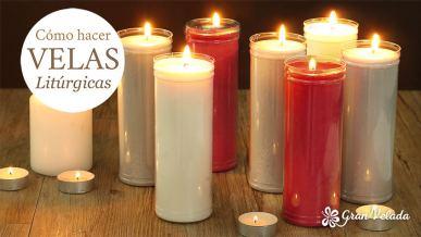 Tutorial para hacer velas litúrgicas en casa.