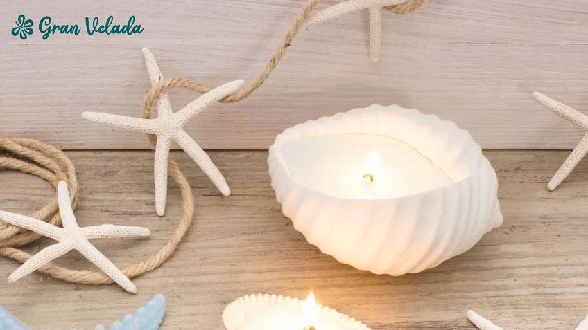 Centros de mesa con velas handmade