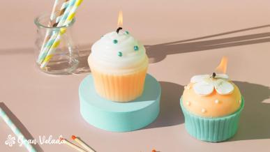 Vela de cupcake DIY