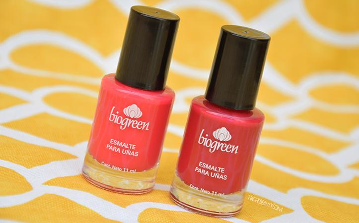 Review: esmaltes Daikiri Pink y Rouge Amour de Biogreen - Hache Beauty