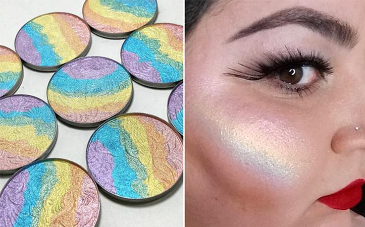 rainbow highlighter iluminador arcoiris 1