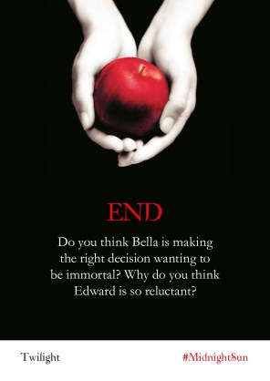 Twilight Series Readalong: End - Do you think Bella is making the right decision wanting to be immortal? Why do you think Edward is so reluctant?