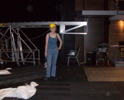 Laying the floor in a theatre - photo by Gina Pratsis
