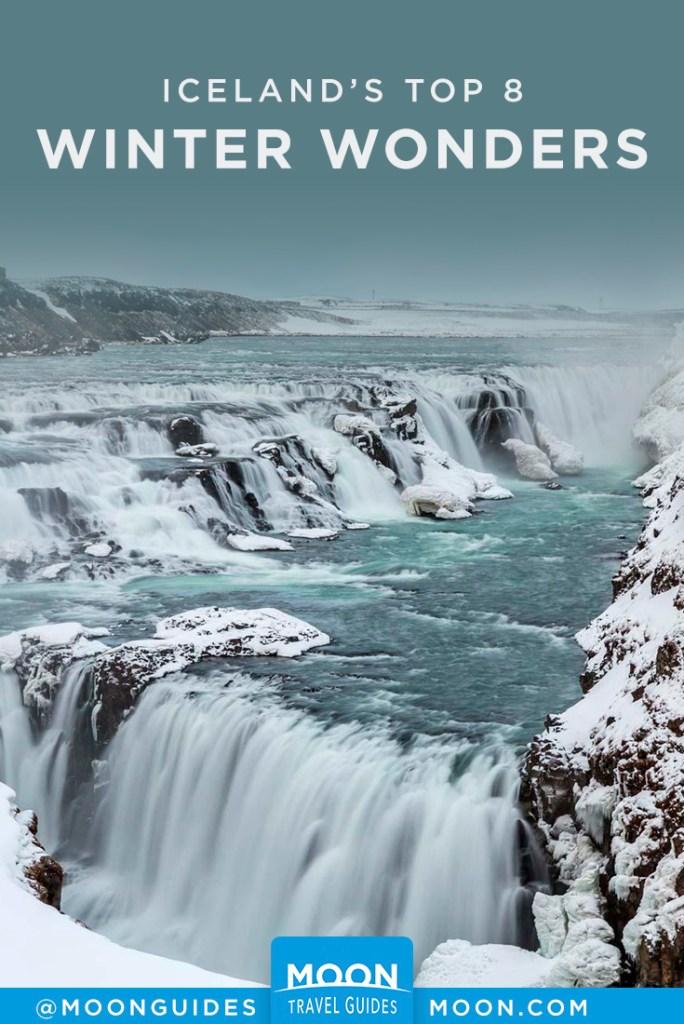 iceland winter wonders pinterest graphic