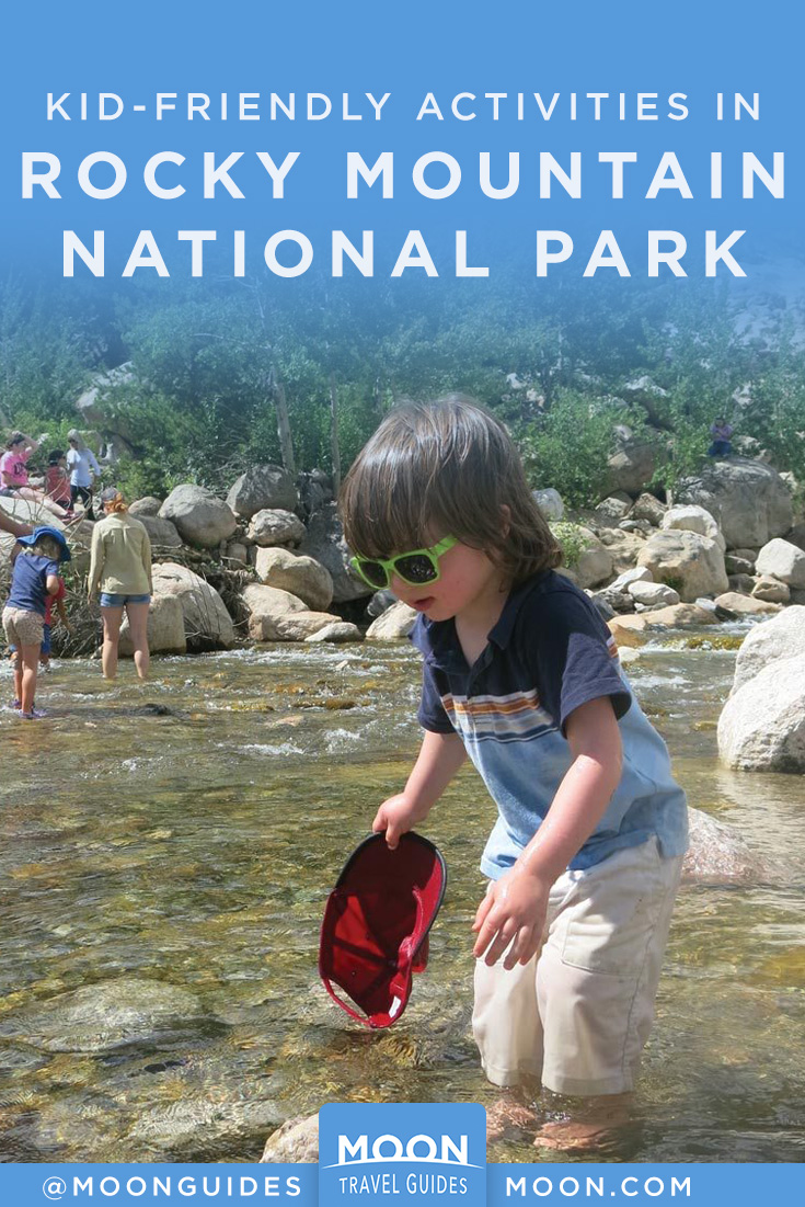 rocky mountain np with kids pinterest graphic