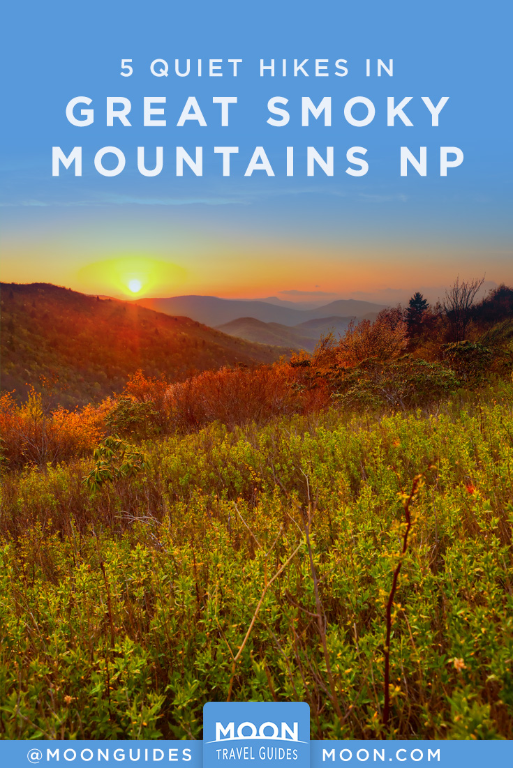 Quiet Hikes in GSM NP pinterest graphic