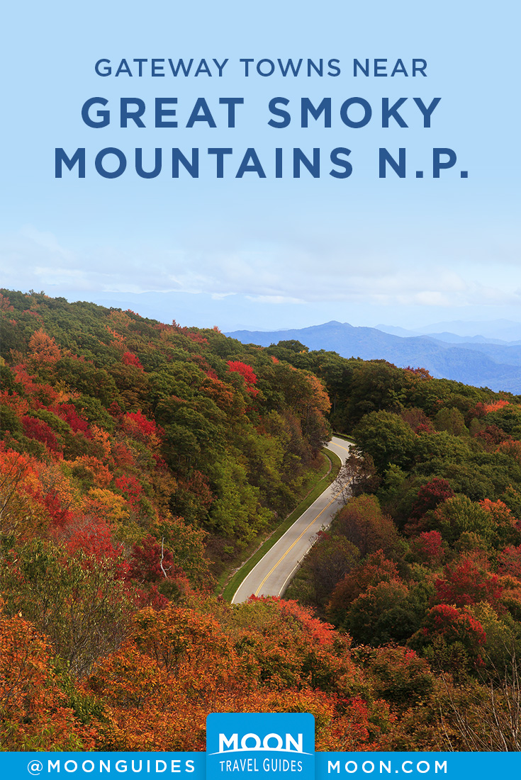 great smoky mountains gateway towns pinterest graphic