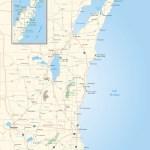 Color map of Wisconsin's Door County