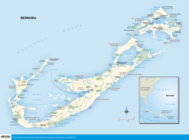 Travel map of Bermuda