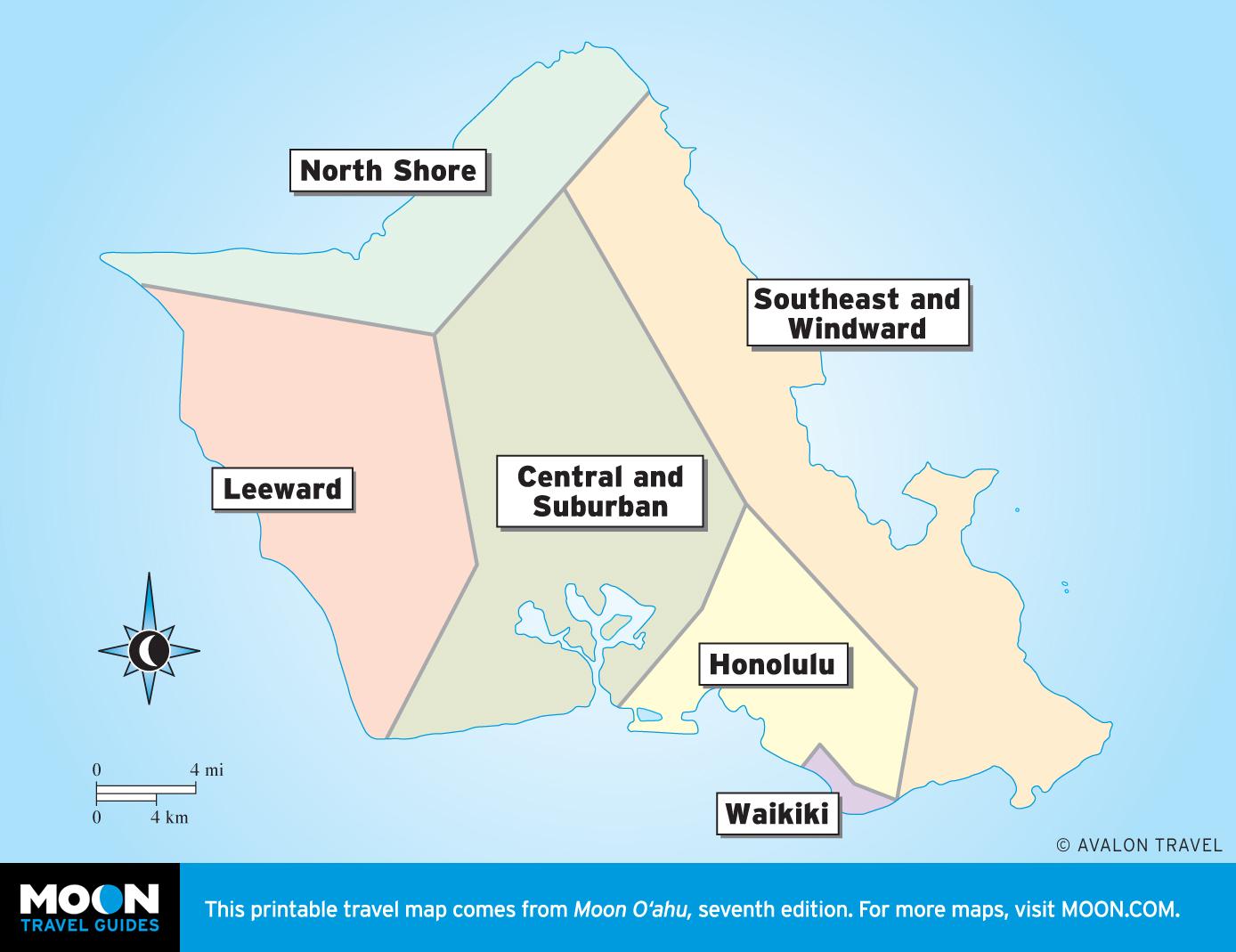 photo regarding Oahu Map Printable called Oahu Avalon Drive