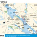 Travel map of Halifax, Nova Scotia