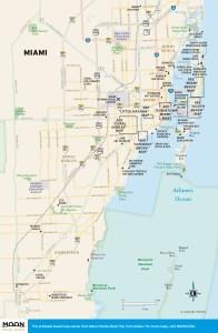 Travel map of Miami, Florida