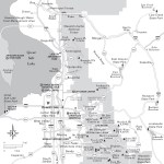 Travel map of Salt Lake City and Vicinity in Utah