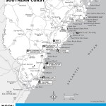 Travel map of Maine's Southern Coast