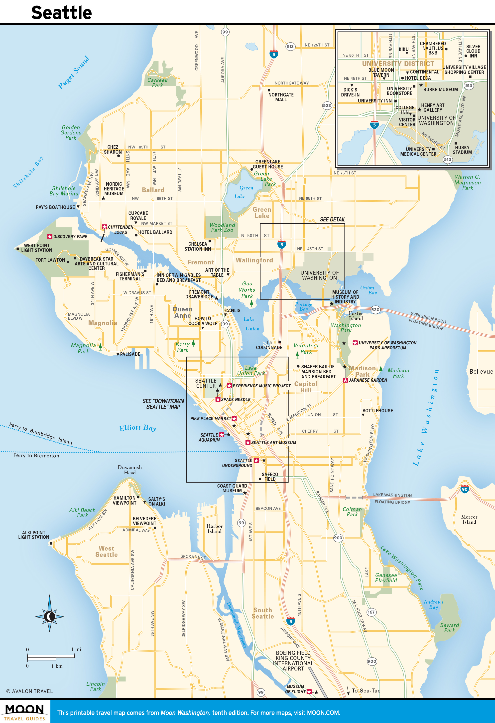 This is a photo of Printable Map of Seattle within children's zoo