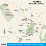 Travel map of Bogota's Centro Internacional in Colombia