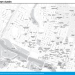 Travel map of Downtown Austin, Texas