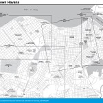 Travel map of Downtown Havana, Cuba