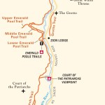 Travel map of Zion Canyon Hikes, Utah