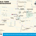 Travel map of Old Town Albuquerque, New Mexico