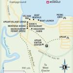 Travel map of Apgar, Montana