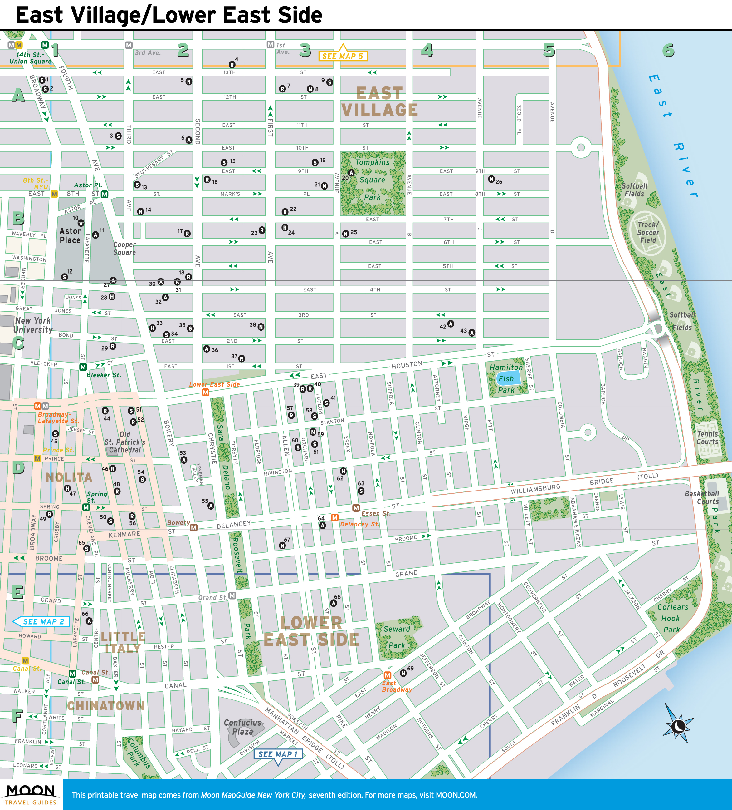photograph about Map of Midtown Manhattan Printable named Refreshing York Maps Moon Generate Publications