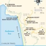 Travel map of Karon Beach, Phuket, Thailand
