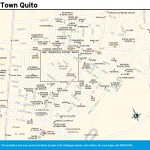 Travel map of New Town Quito, Ecuador