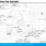 Travel map of Downtown San Salvador, El Salvador