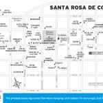 Map of Santa Rosa de Copán, Honduras