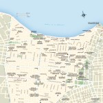 Travel map of Centro Habana in Cuba