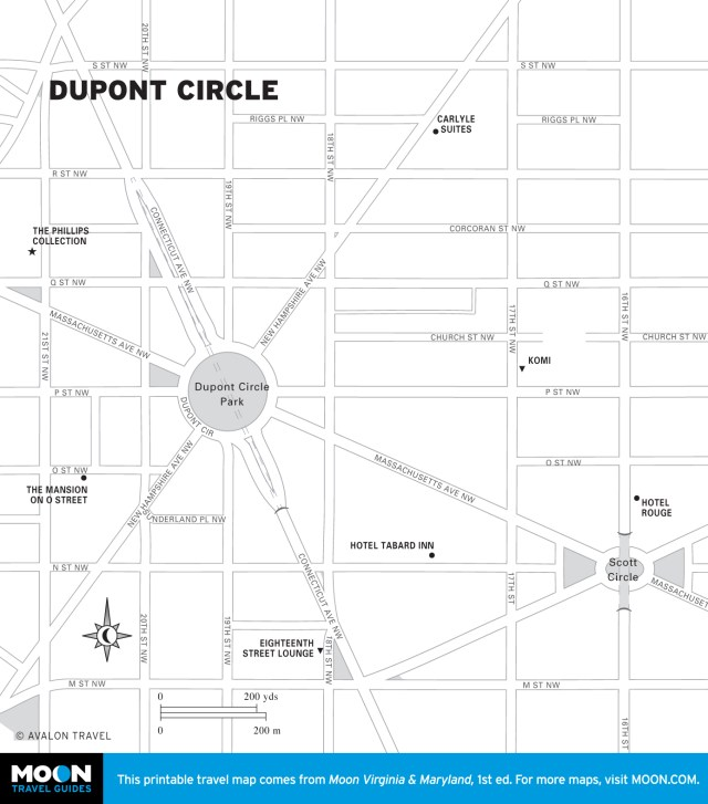 Map of Dupont Circle in Washington DC